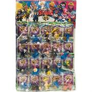Игрушки на листе Brawl Stars 60 в прозрачной упаковке 20 шт/уп