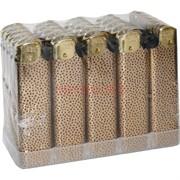 Зажигалка кремневая пьезо «леопард» 50 шт/блок