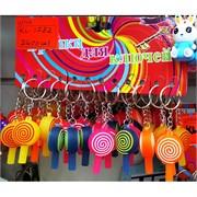Брелки резиновые (KL-1732) леденец lollipop 120 шт/блок