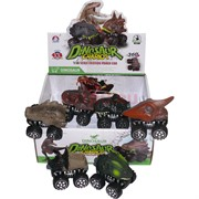 Машинка динозавр инерционная 6 шт/уп Dinosaur Chariot