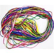 Гайтан шнурок для креста 55 см разных цветов (греческий шелк)