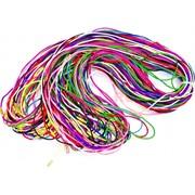 Гайтан шнурок для креста 70 см разных цветов (греческий шелк)