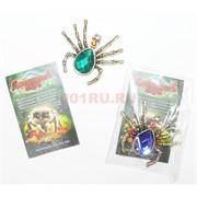 Денежный паук металлический Символ богатства со стразами