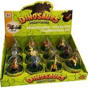 Игрушка динозавры иннерционная на колесиках 12 шт/уп