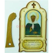 Икона деревянная с подставкой Святая Матрона 10 шт/уп