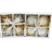 Свечки (R2-1030) чайные в подарочных упаковках 4 шт/уп