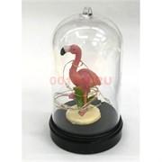Фламинго (R2-430) в стеклянной колбе с гирляндой