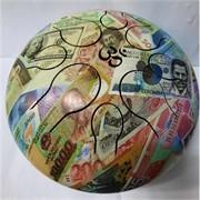 Музыкальный инструмент глюкофон с рисунком денег диаметр 23 см