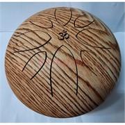 Музыкальный инструмент глюкофон с рисунком дерева диаметр 23 см