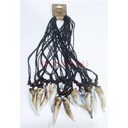 Подвеска под кость 30 см Клык (BR-005) коричнево-белая 12 шт/уп