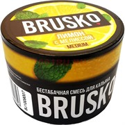 Кальянная смесь бестабачная Brusko 50 гр «Лимон с мелиссой»