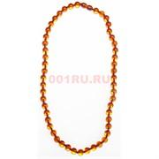 Бусы из янтаря оранжевые 8 мм круглые 45 см