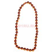 Бусы из янтаря оранжевые 12 мм круглые 55 см