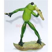 Фигурка лягушки с микрофоном (KL-753) из полистоуна