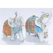 Слоны (KL-272) белые из полистоуна 10 см
