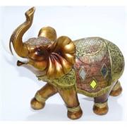 Фигурка слон коричневый из полистоуна 27 см