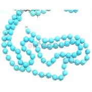 Бусы 14 мм из голубой бирюзы 50 см