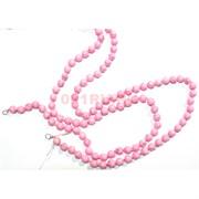 Бусы 10 мм из розового коралла 50 см