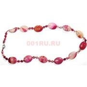Бусы из розового коралла овальные 46 см