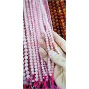 Розовый кварц 6 мм нитка бусин 40 см