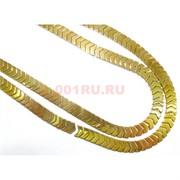 Нитка бусин гематит 93 шт под золото длина 40 см
