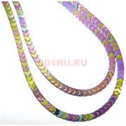 Нитка бусин гематит 102 шт цветной 10 мм длина 40 см
