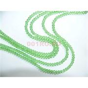 Нитка бусин из светло-зеленого стекла хрусталь 2 мм длина 40 см