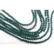 Нитка бусин из темно-зеленого стекла хрусталь 6 мм длина 40 см