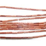 Нитка бусин из коричневого авантюрина 30 шт длина 40 см
