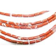 Нитка бусин из красной яшмы 28 шт длина 40 см