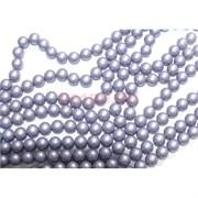 Нитка бусин 12 мм из майорки фиолетовой матовой круглой длина 40 см