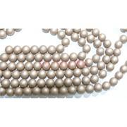 Нитка бусин 12 мм из майорки коричневой матовой круглой длина 40 см