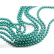 Нитка бусин 12 мм из майорки зеленой матовой круглой длина 40 см