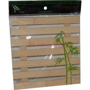 """Подставка под горячее из бамбука """"штакетник"""" 18х18 см"""