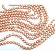 Нитка бусин 10 мм из майорки оранжевой матовой круглой длина 40 см