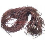 Гайтан шнурок для креста 70 см коричневый шелковый