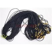 Гайтан шнурок для креста 70 см черный шелковый