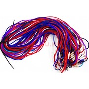 Гайтан шнурок для креста 55 см яркий цветной (греческий шелк)