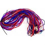 Гайтан шнурок для креста 70 см яркий цветной (греческий шелк)