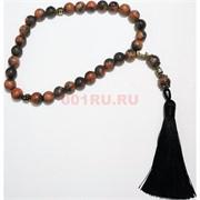 Четки с крестом коричневая яшма 10 мм 30 бусин (натуральный камень)