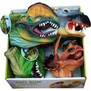 Динозавр игрушка резиновая на руку 6 шт/уп
