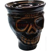 Чашка керамическая «череп at80» кальянная