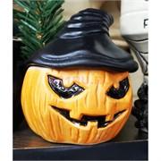 Чашка белая глина «тыква хеллоуин» с крышкой