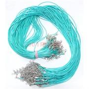 Нитка голубая 60 см из кожзама 100 шт в связке