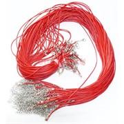 Нитка красная 60 см из кожзама 100 шт в связке