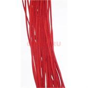 Нитка красная 80 см из кожзама 100 шт в связке