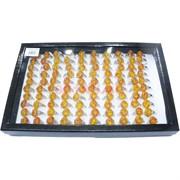 Кольца (KL-1108) янтарные 100 шт/уп