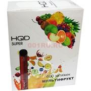 HQD Super 600 затяжек Мультифрукт электронный персональный испаритель
