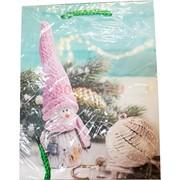 Пакет подарочный новогодний 23х18 см (20 шт/уп) из толстого картона