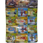 Набор игрушек «транспортное средство» 12 шт на листе